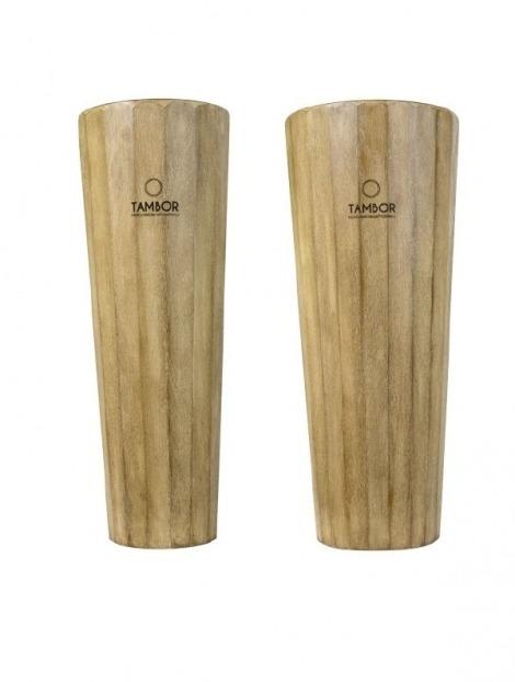 Coppia Conga Cajon Quinto e Conga in legno modello Brushed Finish